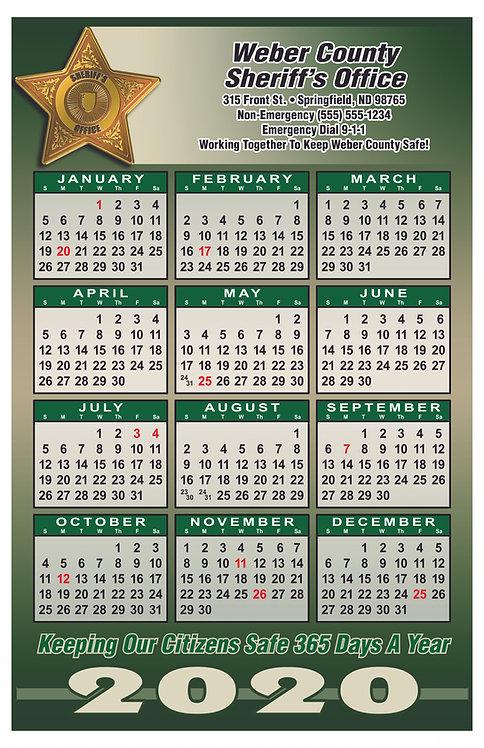 5pt Sheriff Wall Calendar