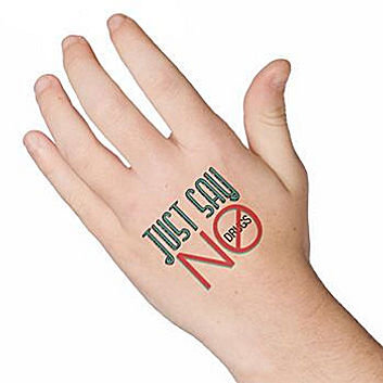 Just Say No To Drugs Temporary Tattoo