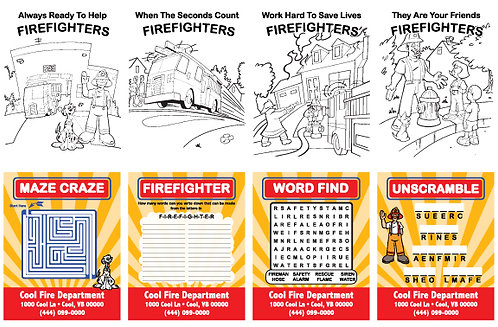Fire Department Activity Cards