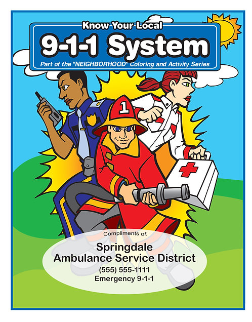 9-1-1 Coloring Book