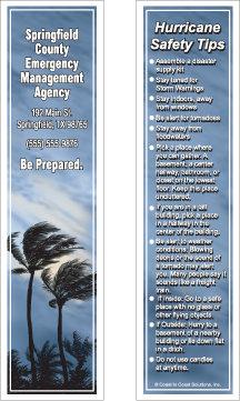 Hurricane Safety Bookmark