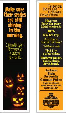 Halloween Drunk Driving (Bookmarks)