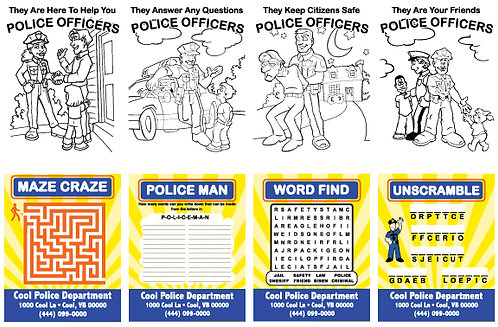 Police Department Activity Cards