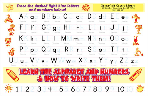 Learn the Alphabet & Numbers and How to Write them.