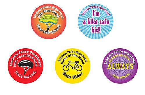Bike Safety Asst. Stickers