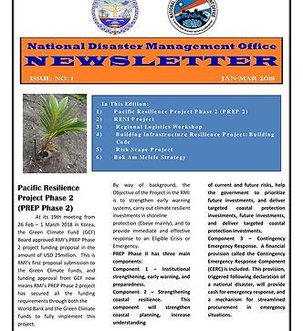 RMI National Disaster Management Office Newsletter Vol. 2