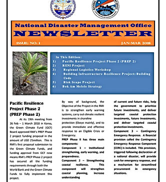 RMI National Disaster Management Office Newsletter Vol. 2