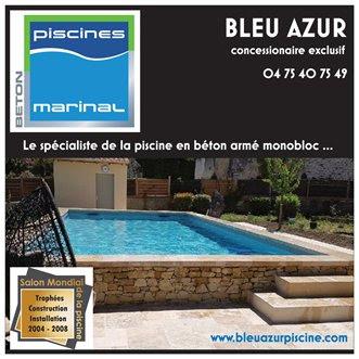 BLEU AZUR PISCINE Concepteur Constructeur Installateur de piscines en béton armé monobloc