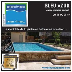 BLEU AZUR PISCINE Concepteur Constructeur Installateur de piscines en béton armé monobloc. Le spécia