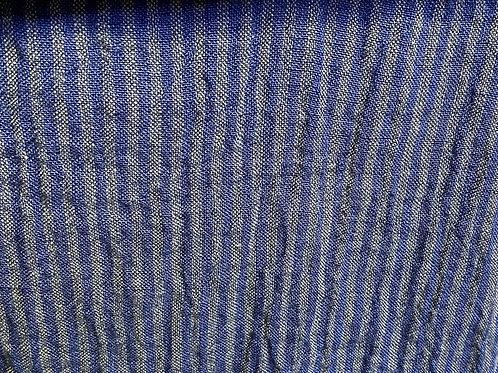 100% Linen Athena  Indigo Stripe