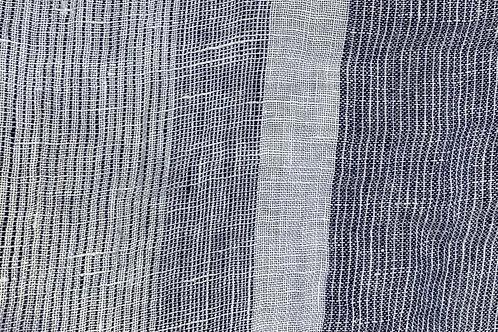 Linen Gauze Stripe/White 19229