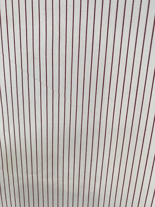 100% Cotton Burgundy Stripe
