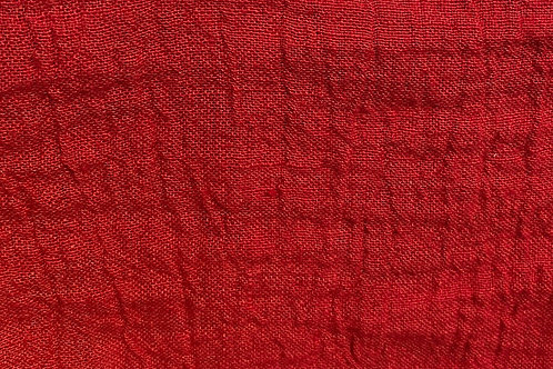 100% Linen Athena Red 18090