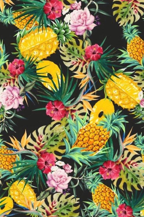 Viscose Challis Pineapple Dolche 120gsm