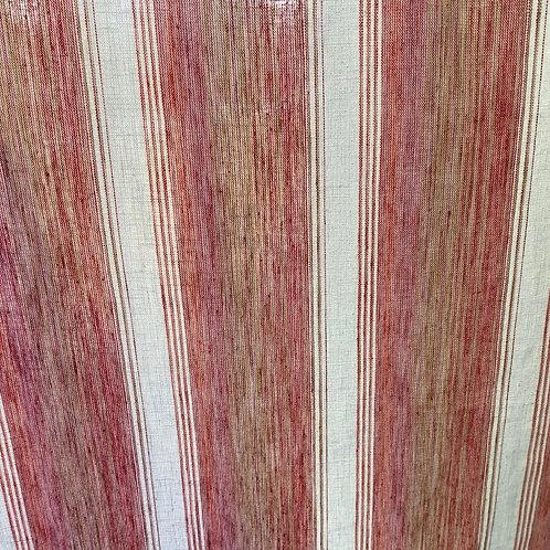Linen /Cotton Tangerine Stripe Belize 19489