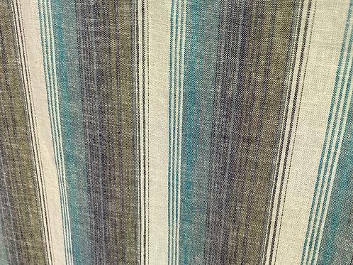 Linen /Cotton Ocean Stripe Belize 19489