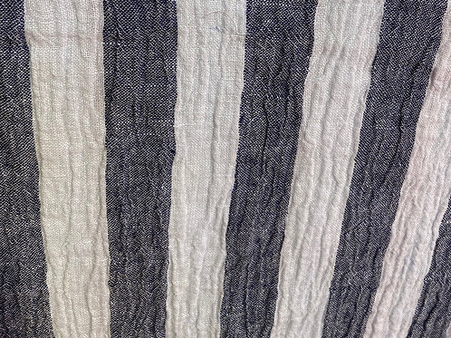 Linen Athena Navy Stripe 19018