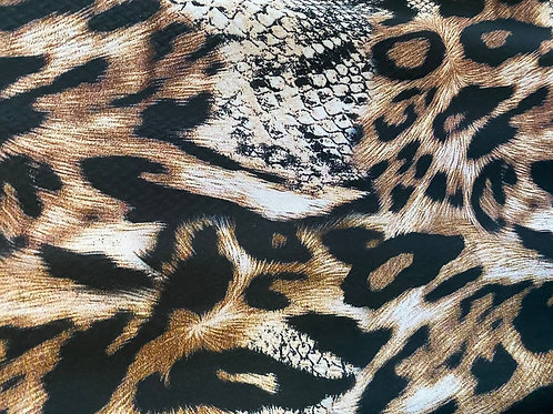 Viscose Challis Dolche Leopard 120gsm