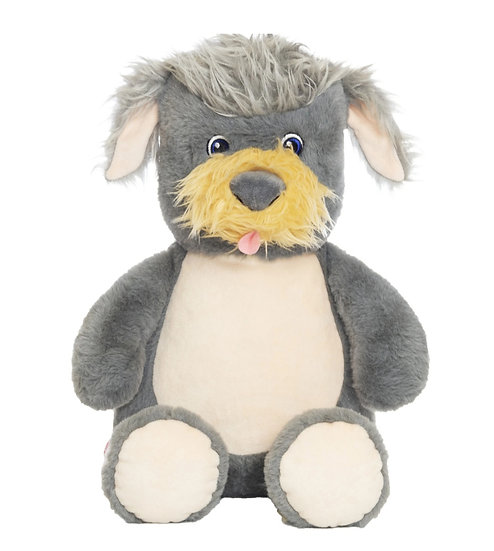 Personalized Embroidery Terrier puppy dog plush