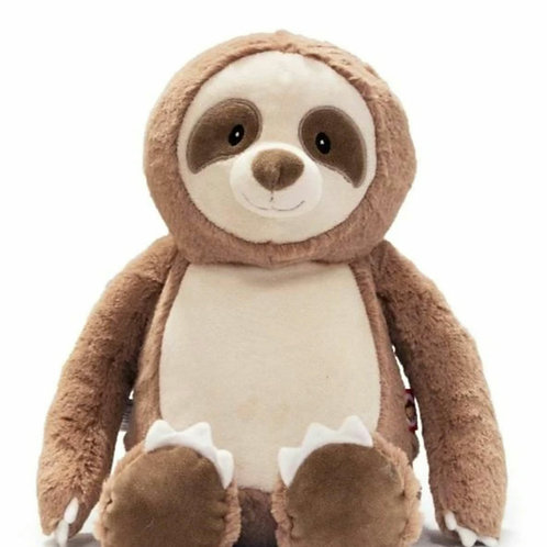 Personalized Embroidery sloth plush