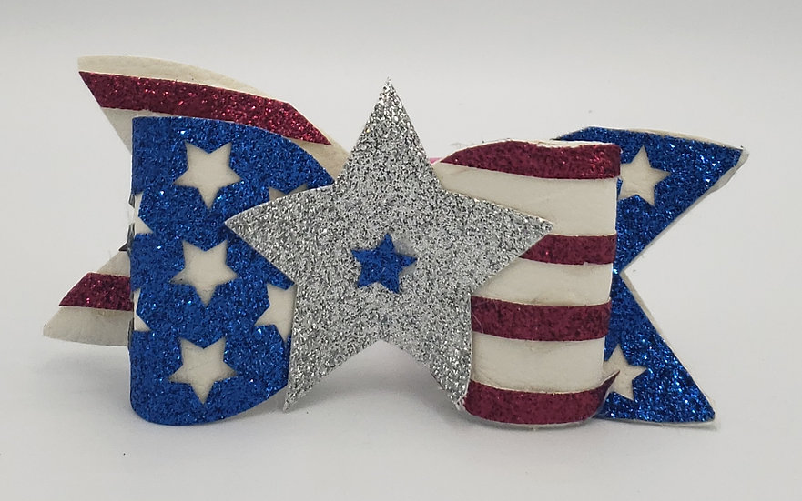 4th of July Stars and stripes bow