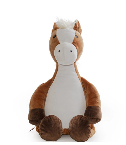 Personalized  Embroidery Horse plush