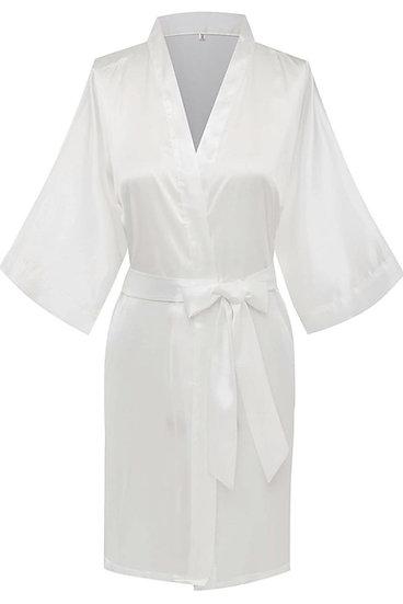 Personalized Adult silk spa / wedding robe
