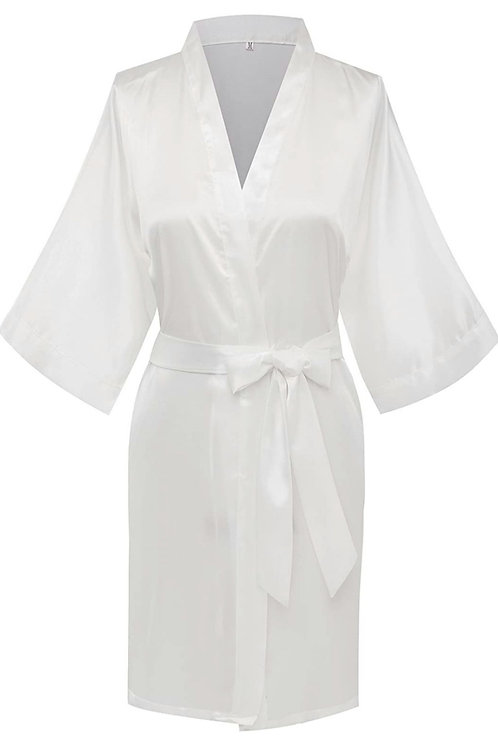 Personalized Adult silk spa / wedding robe