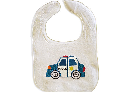 Police Car Baby Bib