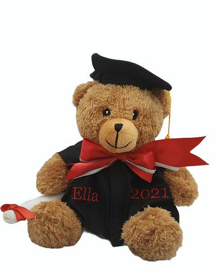 Personalized Embroidery Graduation Bear.