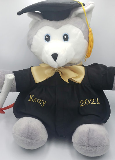 Personalized Embroidery Graduation wolf gift