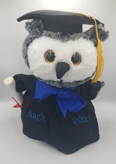Personalized Embroidery Graduation owl