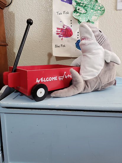 Personalized Embroidery Shark plush