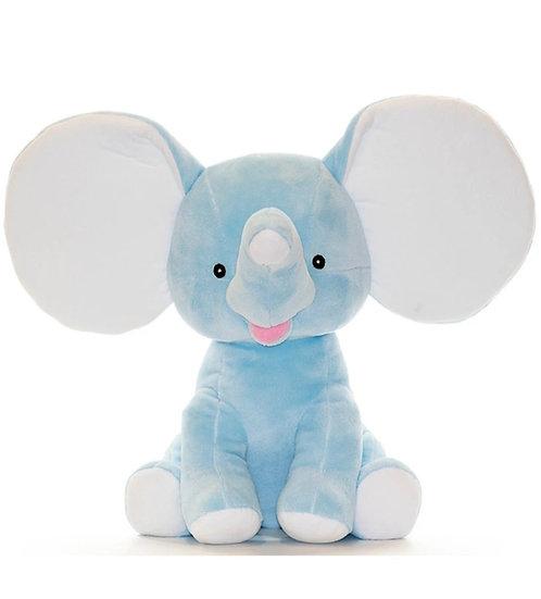 Personalized   Embroidery Blue Elephant plush