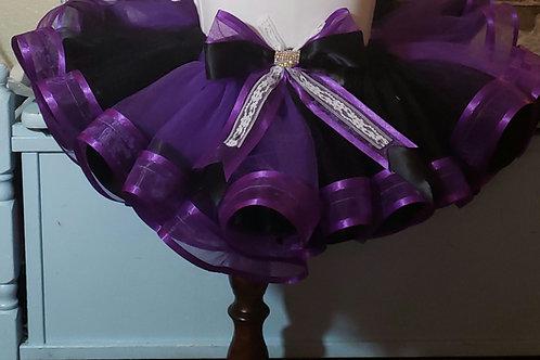 Sewn silk ribbon tutus