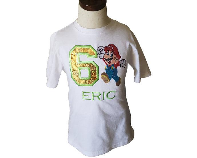 Mario inspired  Birthday T Shirt