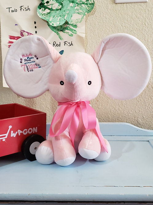 Personalized Pink Elephant