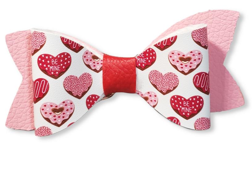 Doughnut heart valentines bows