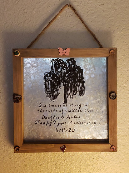 Personalized Anniversary wall sign
