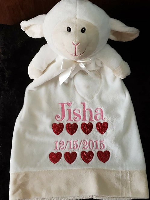 Personalized Lamb blanket