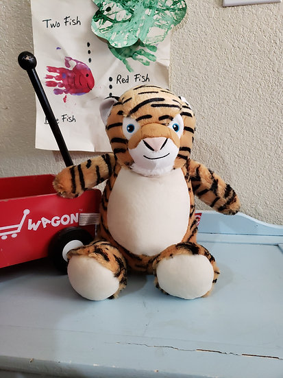 Personalized Embroidery Tiger plush
