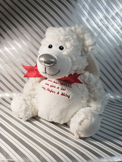 Personalized Embroidery Gaurdian Angel Bear plush