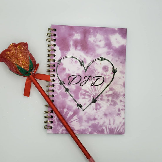 Personalized monogram sublimation note book