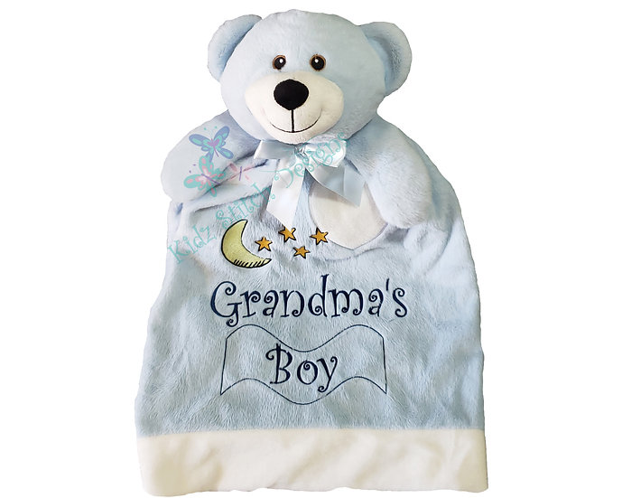 Personalized Embroidery Teddy Bear Blanket