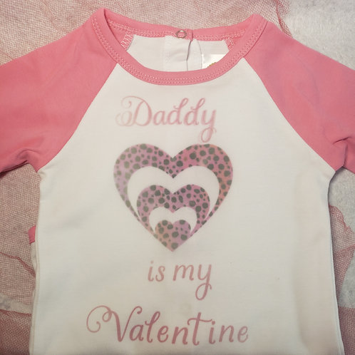 Girls valentines day shirt