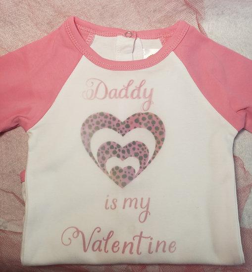 Girls valentines day shirt