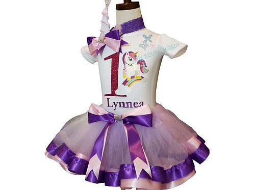 Personalized Embroidery Applique Tutu set