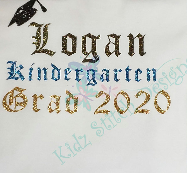 Personalized Vinyl Kindergarten graduation shirt