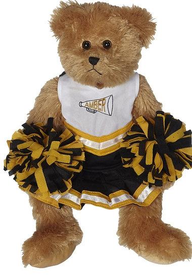 Personalized Cheerleader Bear plush