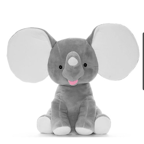 Personalized Grey Elephant
